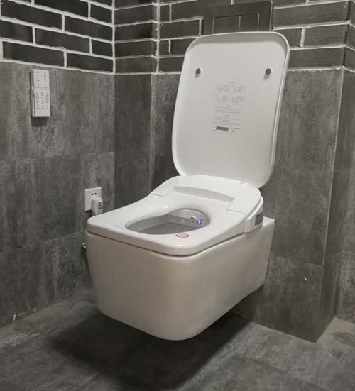 Dg560 wall hung drainage suspended type square smart intelligent toilet bidet