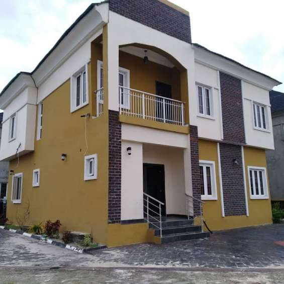4 bedroom semi detached duplex for sale by lekki second toll gate lagos